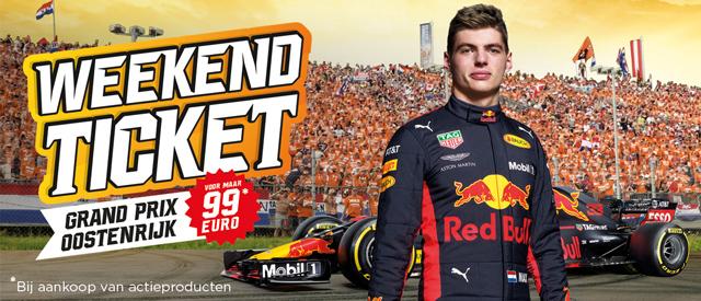 Koop een actieproduct bij Jumbo en wissel je actiecode om voor een weekendticket GP F1 Oostenrijk