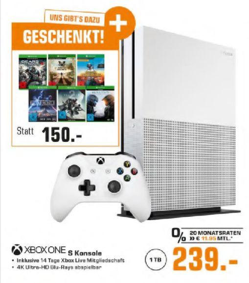[Grensdeal] Xbox One S 1TB met 6 games voor €239