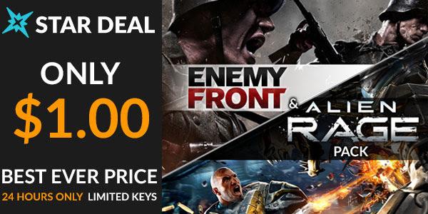 Enemy Front + Alien Rage Pack Steam keys - €1 @ Fanatical