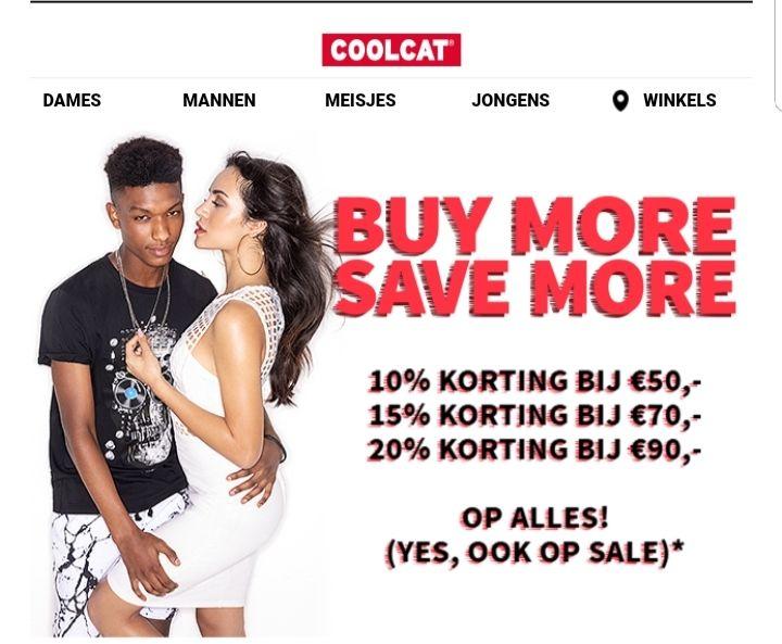 @Coolcat tot 20% korting op alles