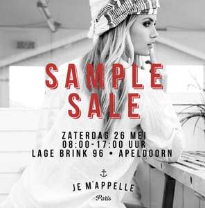 Sample Sale Je m'appelle zaterdag 26 mei