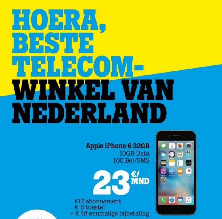 iPhone 6 of Samsung A5 afgeprijsd bij Tele2 winkels