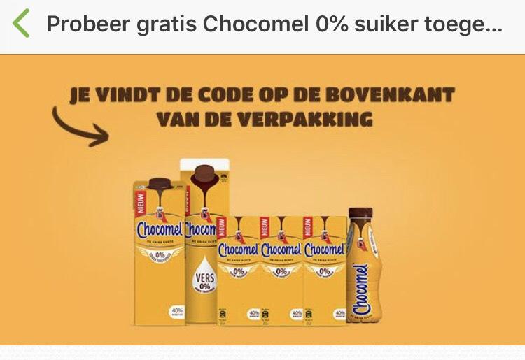 Probeer gratis Chocomel 0% suiker toegevoegd
