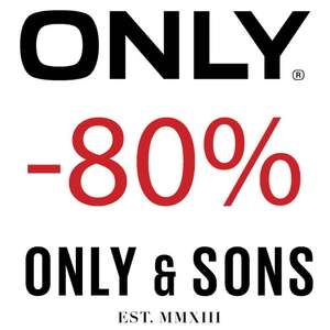 Actie: zaterdag 18-21 uur: Only + Only & Sons 80% korting @ Maison Lab