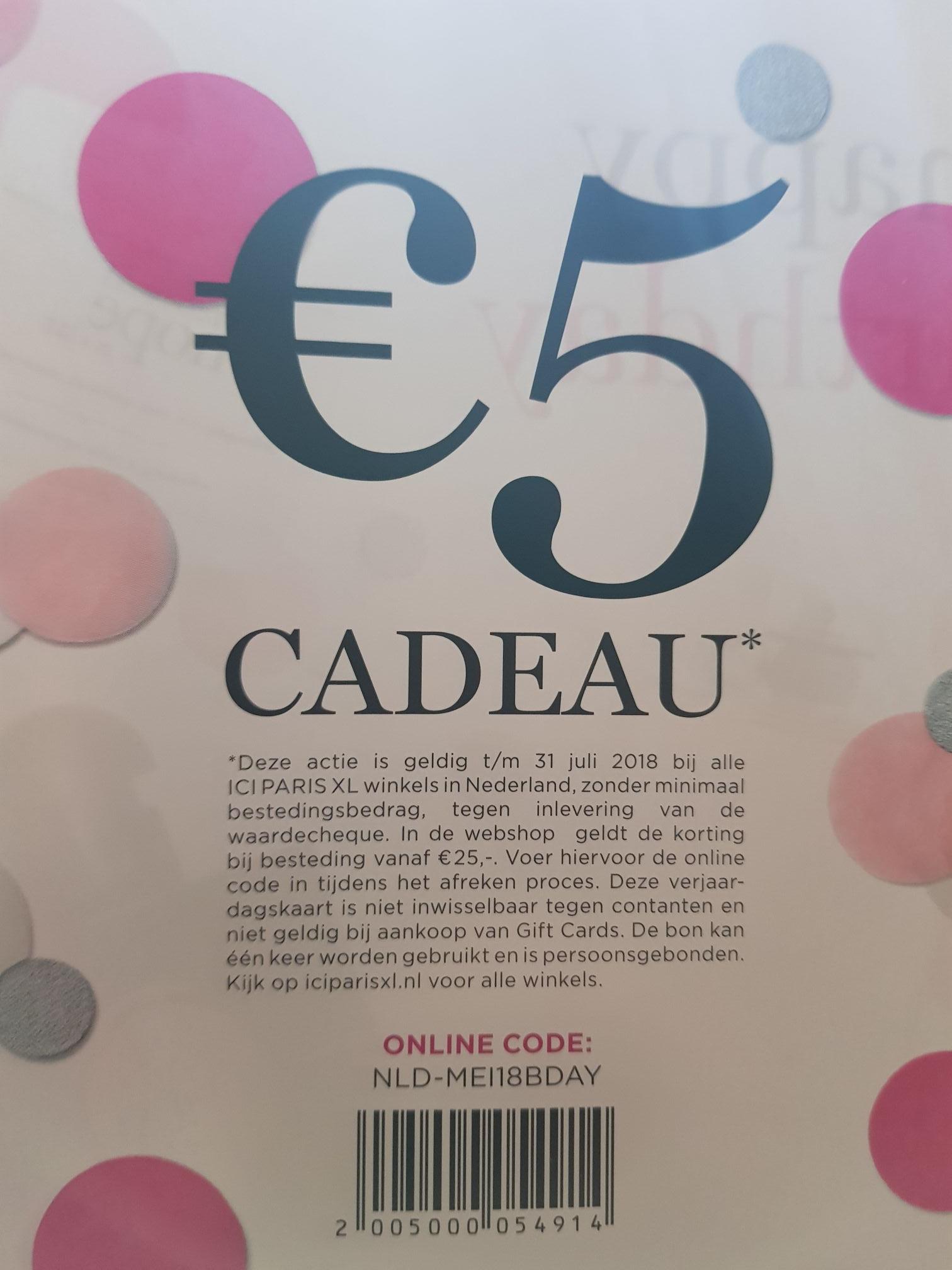 5 euro korting bij ICI Paris XL
