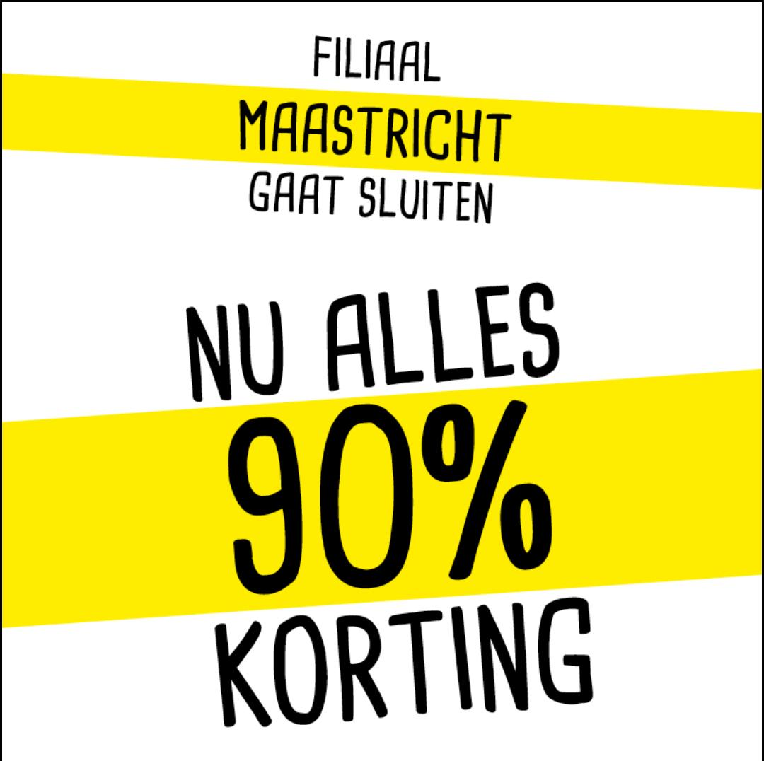Xenos Maastricht wordt casa dus alleen vandaag 90 % korting op alles! Ruilen vandaag niet mogelijk!