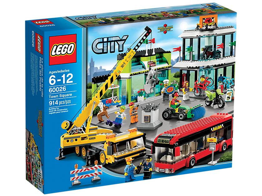 Lego City 60026 Stadsplein voor €98 bij RobsToys (Elders €129,99)