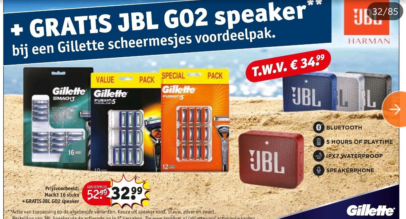 Nu ook gratis JBL go2 bij Kruidvat