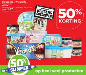 PLUS super. -50% op grolsch/royal club/hertog ijs en nog meer.