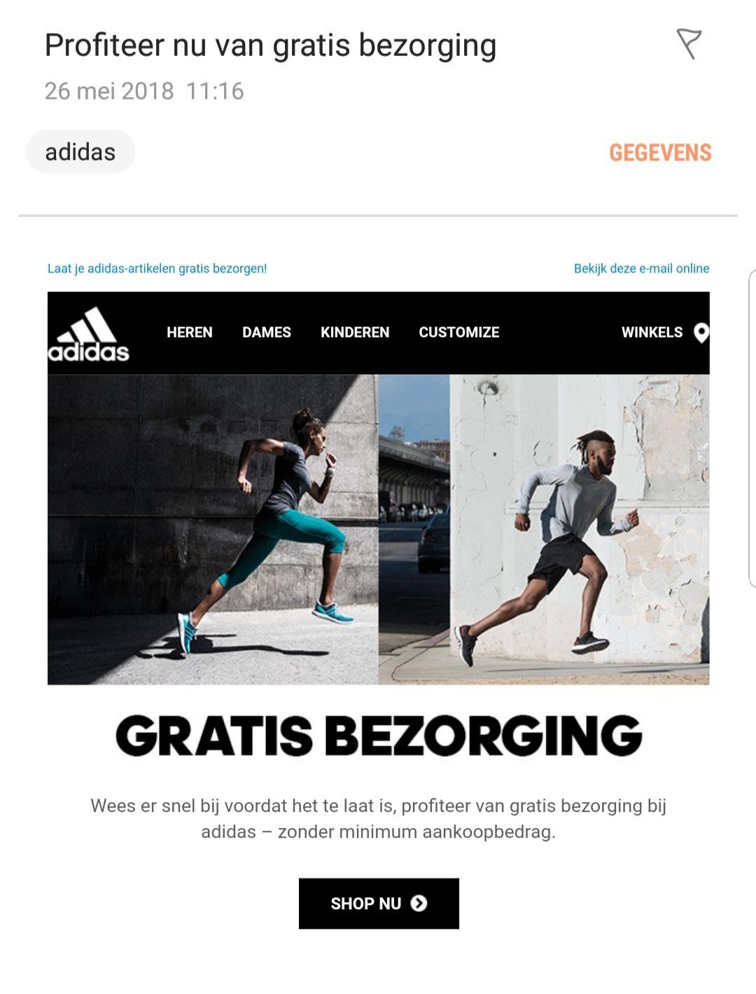 Gratis verzenden bij Adidas.nl
