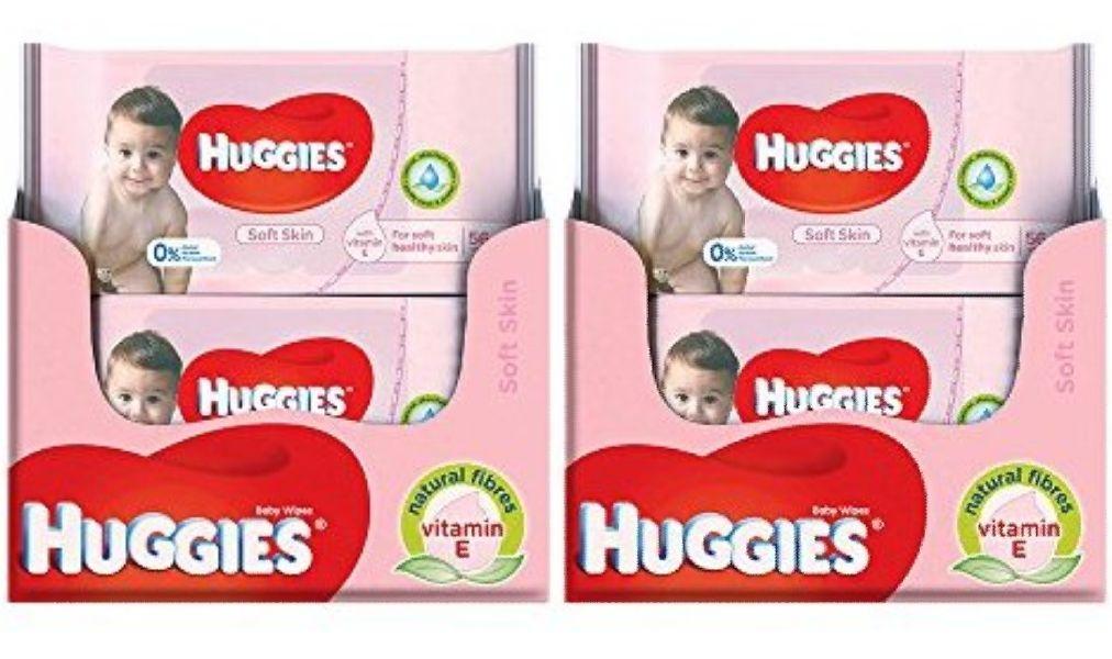 Huggies billendoekjes 20 pakjes voor €12,96 bij Amazon.de