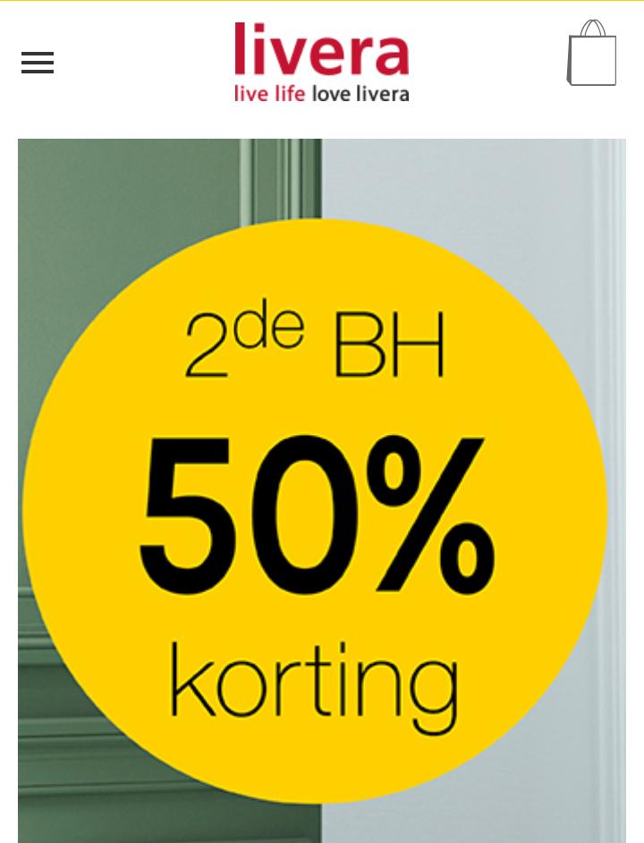 @Livera 2de bh 50% korting