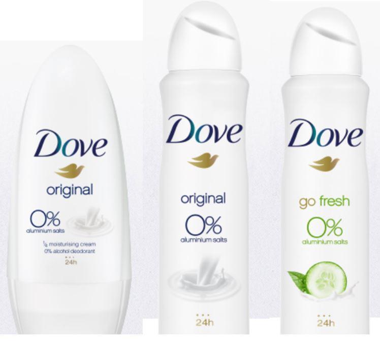 50% korting op Dove 0% met bon (uit blad Happinez nr 4) @ Kruidvat
