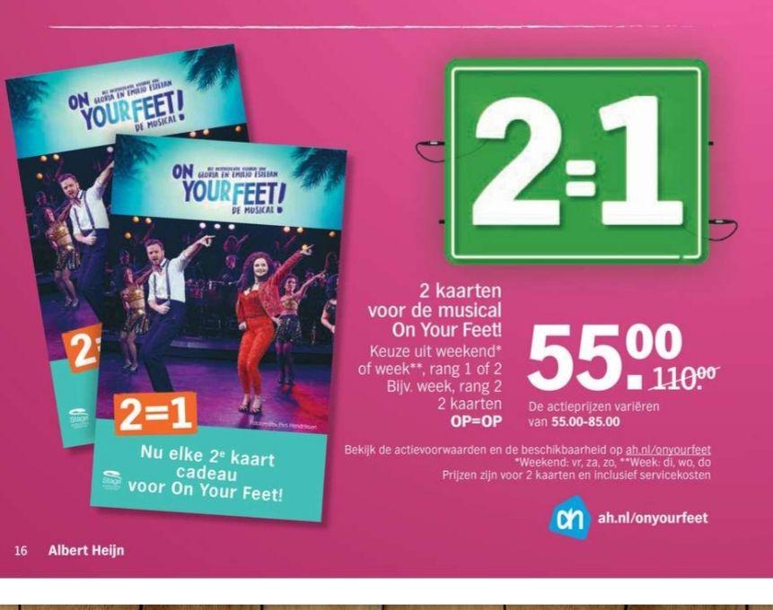 Musical On Your Feet 2 voor €55/€85 OP=OP