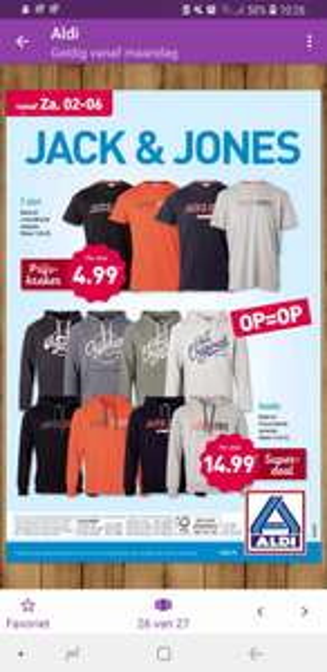 Jack & Jones tshirts en hoodies bij Aldi €4.99/14.99