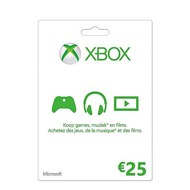 2x Microsoft Xbox Live Giftcard 25 euro (50 euro Xbox tegoed) door code voor €40,35 @ Wehkamp