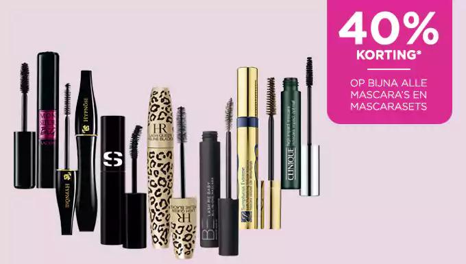 40% korting op bijna alle mascara's @ Ici Paris XL