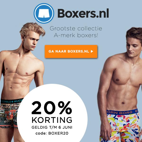 20% Korting @ Boxers.nl / Zwembroeken.nl / Sokken.nl / Shirts.nl