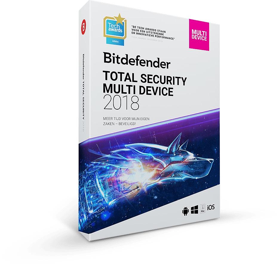 Bitdefender Total Security 2018 (1 jaar, 5 gebruikers)