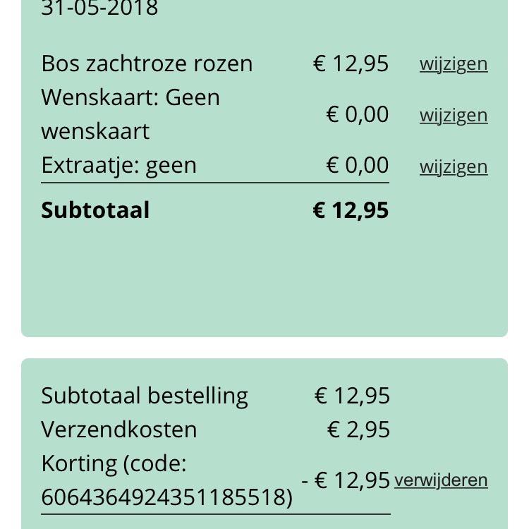 Eurosparen foutje: €12,50 korting i.p.v €5 @ Bloompost.nl