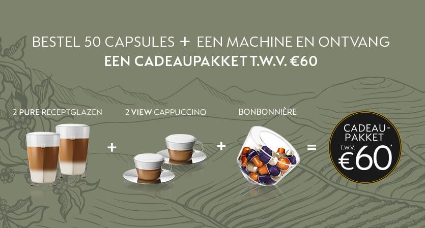 Nespresso Koffiemachines met welkomstpakket t.w.v. 60,-