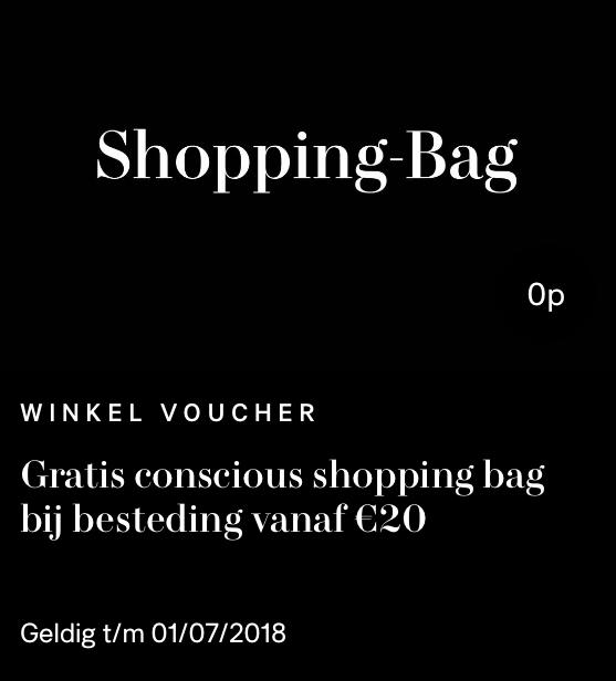 H&M gratis conscious shopping bag (bij besteding >20 euro)