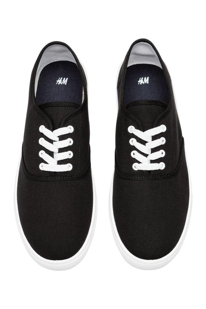 Sneakers van katoenen canvas voor €5,99 incl @ H&M