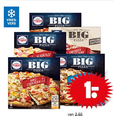 Wagner Big Pizza €1,- per stuk bij Dirk