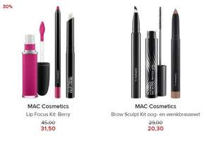 Mac Cosmetics - 2 sets -30% + als member 10% extra korting @ Hudson's Bay