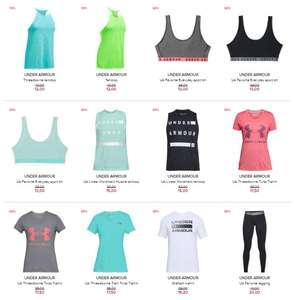 Under Armour dames met -50% + 10% extra @ Hudson's Bay