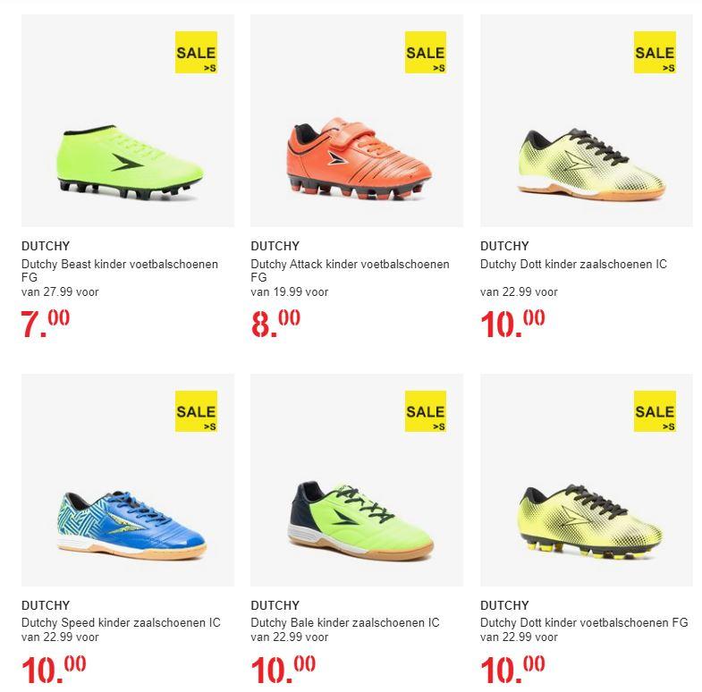 Diverse kids voetbalschoenen afgeprijsd: nu van €7 tot max €15 @ Scapino