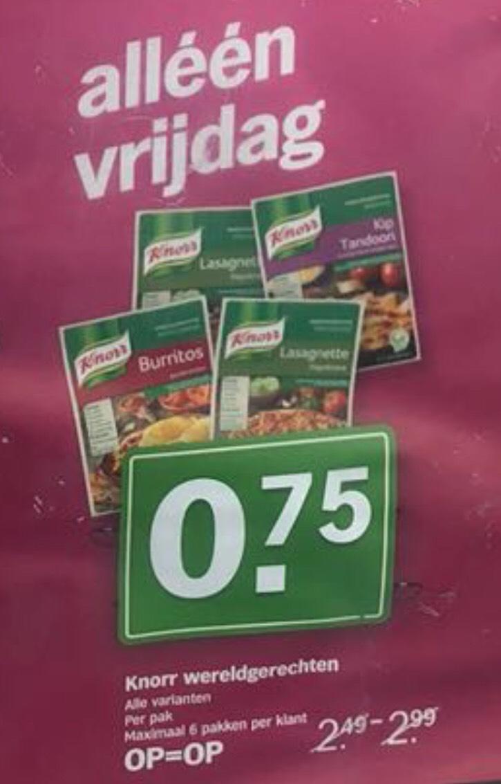 Knorr wereldgerechten, alle varianten. Max. 6 pakken per klant @AH