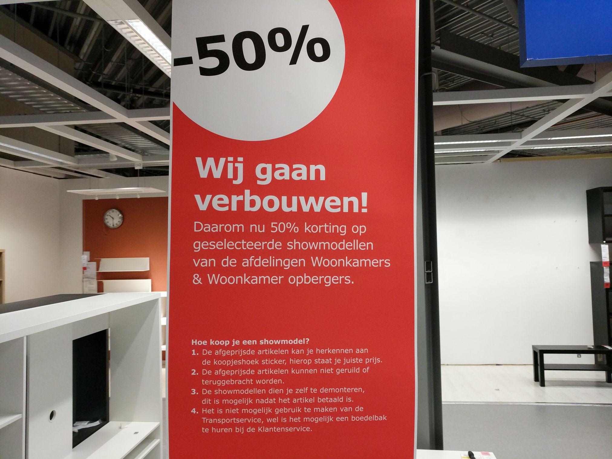 50% diverse showmodellen IKEA Utrecht