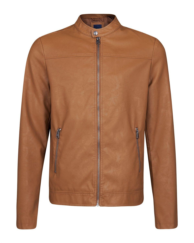 Leather look biker jacket @ WE