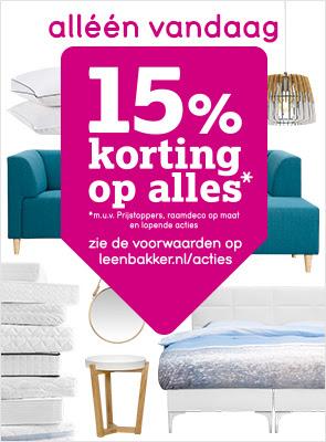 Alleen vandaag: 15% korting op alles! @ Leenbakker