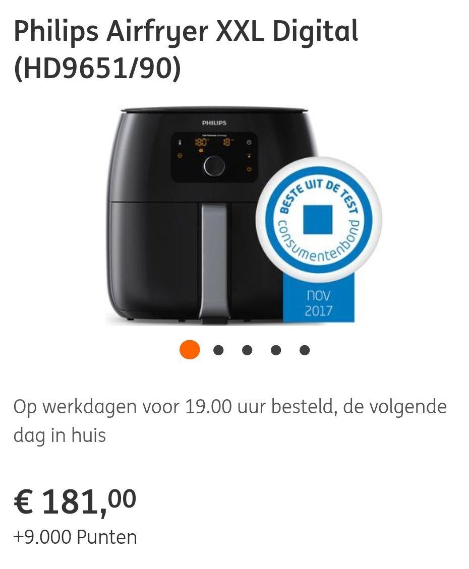 Philips Airfryer XXL Digital (HD9651/90) @ING (151 euro na cashback)