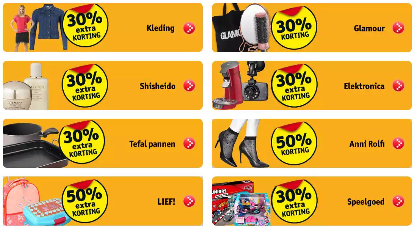 Weer sale met 30-50% EXTRA korting - nieuwe artikelen @ Kruidvat