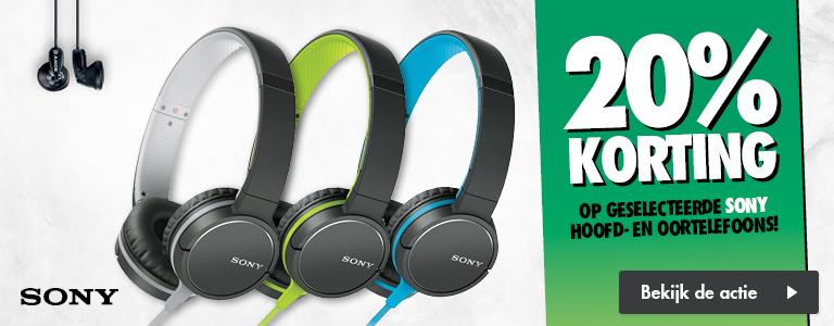20% korting op Sony hoofdtelefoons en oordopjes @ Expert