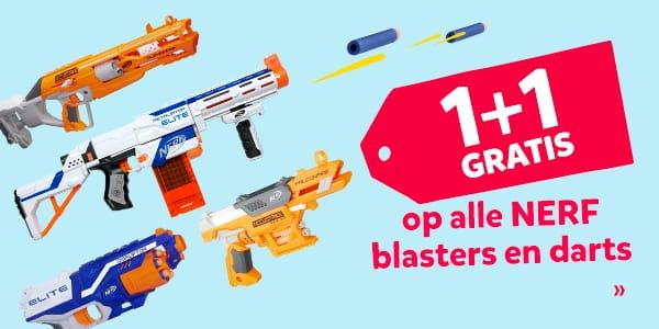 1+1 gratis op NERF blasters & darts @ Intertoys