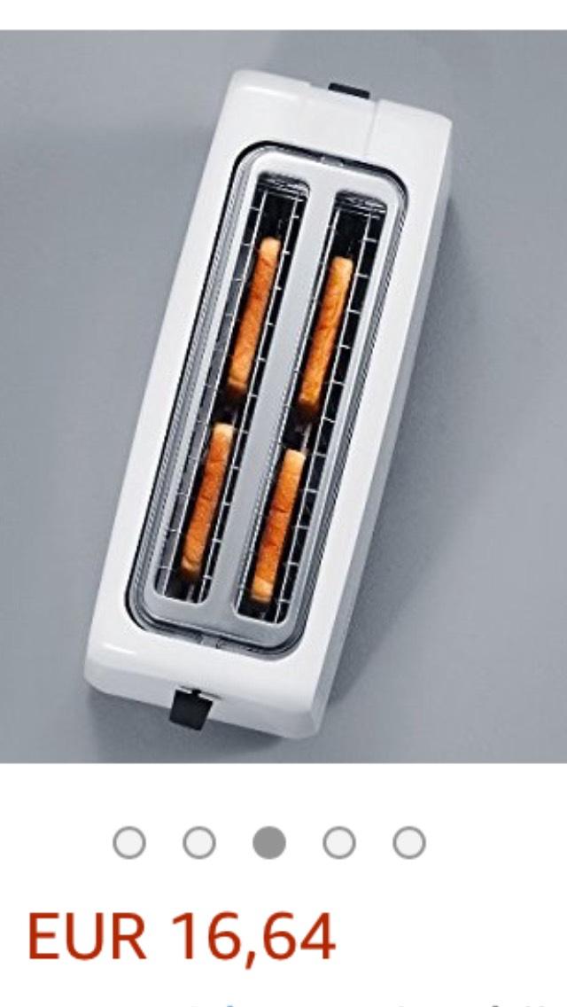 AmazonBasics Broodrooster, automatisch, 1400 W vermogen, voor vier sneden brood (kleur wit)