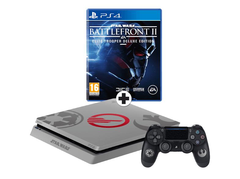 PS4 Slim 1TB StarWars Edition + StarWars Battlefront II (Elite Trooper Deluxe Edition)