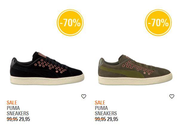 Puma Suede XL Lace VR sneakers in groen / zwart -70% @ Omoda