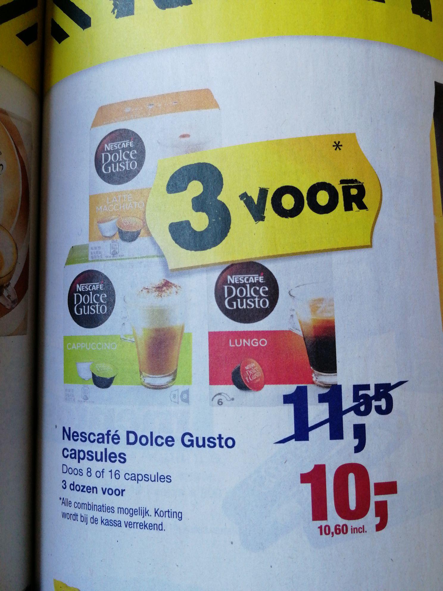 Dolce Gusto 3 voor €10,60 @Makro
