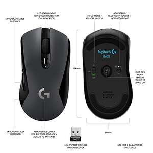 Logitech G603 draadloze gaming muis @ Amazon.de