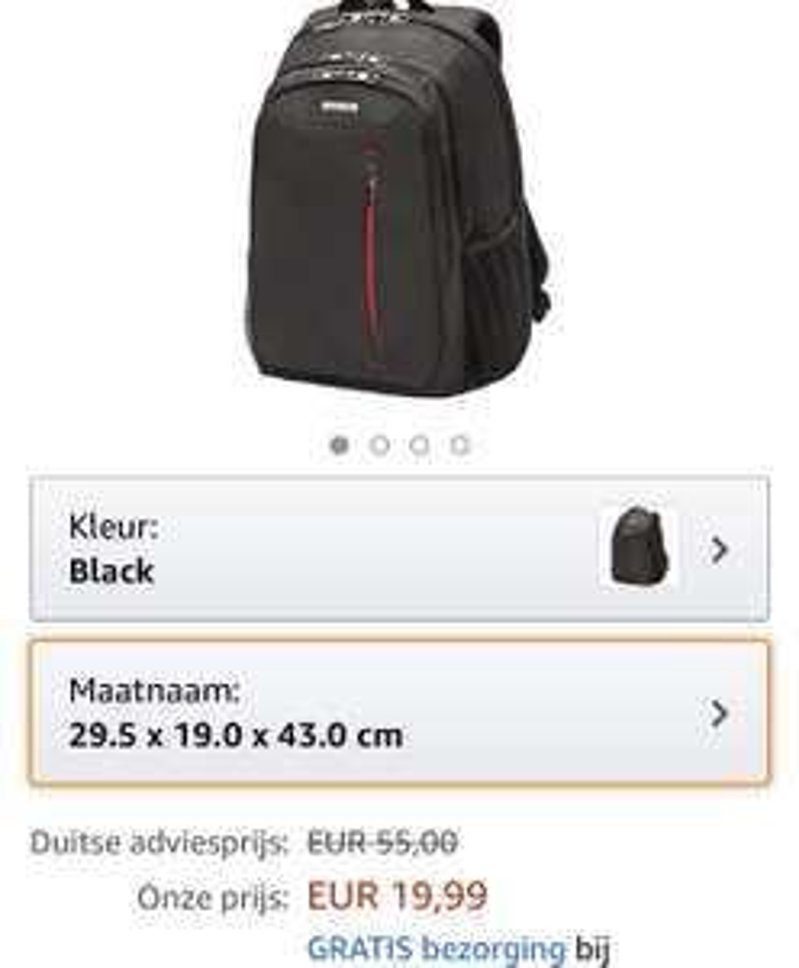 Samsonite guardit backpackbestemming small