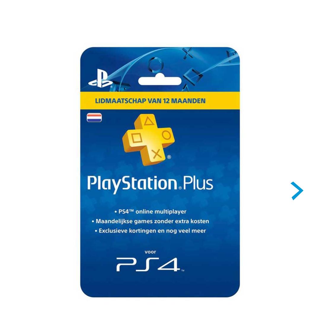 Vanaf morgen! Playstation plus abbonement 12 maanden