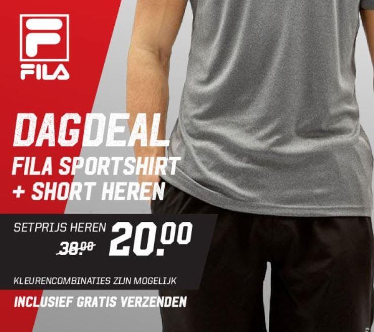Dagdeal: Fila heren sportset €20 + gratis verzending @ Aktiesport