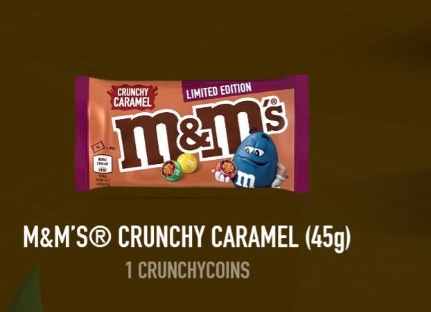 Gratis M&M crunchy caramel*