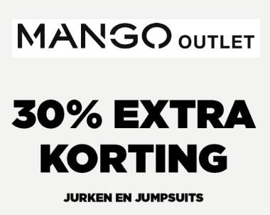 Met code 30% extra korting op damesjurken + -jumpsuits @ Mango Outlet
