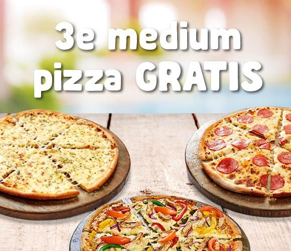 3e pizza gratis  | Friday Deal
